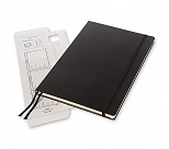 Notes profesjonalny Workbook z serii PRO, czysty, rozmiar A4 czarny twarda okładka (Moleskine Workbook PRO collectin Notebook Plain Black A4 Hard Cover)