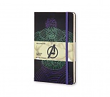Avengers - Notes Moleskine Hulk w linię, duży [13x21cm] (Moleskine The Avengers Limited Edition Notebook Large Ruled Hard Hulk)