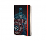 Avengers - Notes Moleskine Kapitan Ameryka w linię, duży [13x21cm] (Moleskine The Avengers Limited Edition Notebook Large Ruled Hard Captain America)