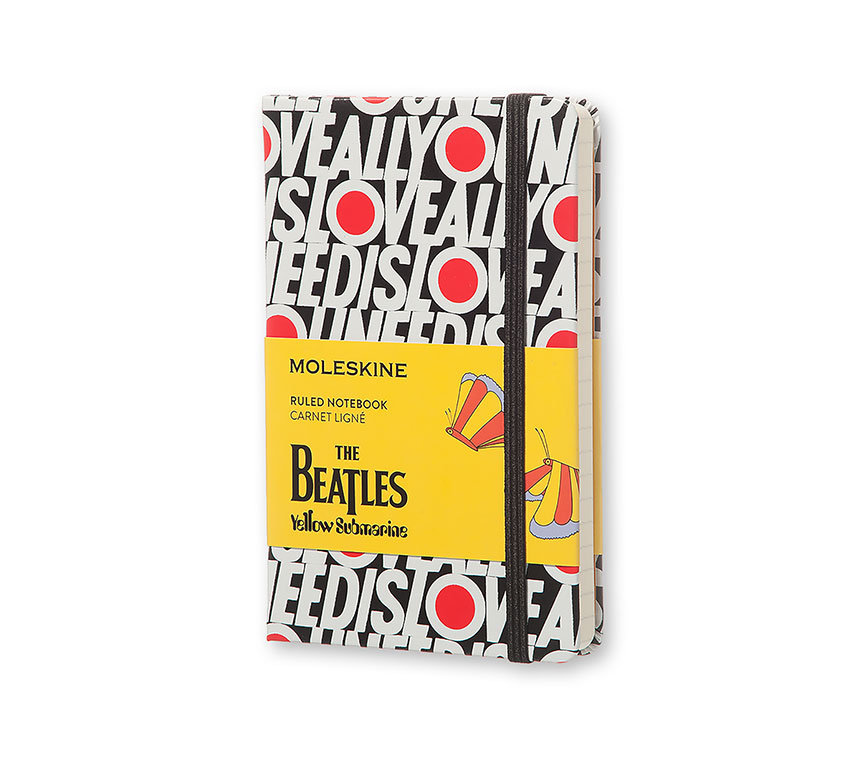 Notes Moleskine The Beatles - ALL YOU NEED IS LOVE w linię, kieszonkowy [9x14 cm] biało-czarny (Moleskine The Beatles Limited Edition Notebook Pocket Ruled Black - All You Need Is Love)