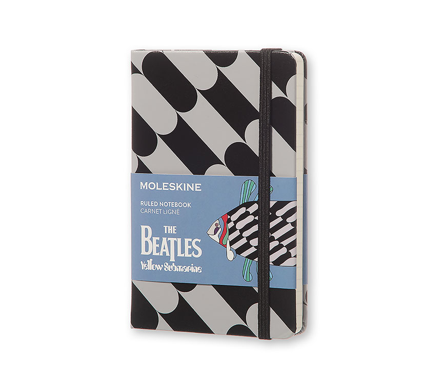 Notes Moleskine The Beatles - FISH w linię, kieszonkowy [9x14 cm] szaro-czarny (Moleskine The Beatles Limited Edition Notebook Pocket Ruled Black - Fish)
