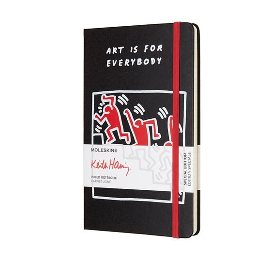 Notes Moleskine Keith Haring w linię, duży [13x21cm], czarny twarda oprawa (Moleskine Keith Haring Limited Edition Notebook Large Ruled Hard)