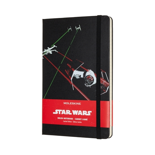 Notes Moleskine STAR WARS w linię, duży [13x21cm] czarny (Moleskine STAR WARS Limited Edition Ruled Large Hard Cover)