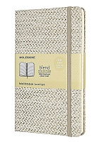 Notatnik Tekstylny Moleskine Blended L (duży 13x21 cm) w Linie Beżowy Twarda oprawa (Moleskine Blended Ruled Special Notebook Textile Collection Large Beige Hard Cover)