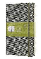 Notatnik Tekstylny Moleskine Blended L (duży 13x21 cm) w Linie Zielony Twarda oprawa (Moleskine Blended Ruled Special Notebook Textile Collection Large Green Hard Cover)
