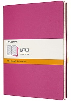 Zestaw 3 zeszytów Moleskine Cahier XL ekstra duże (19x25 cm) w Linie Różowe Kinetic Miękka oprawa (Moleskine Cahiers Extra Large Kinetic Pink Set of 3 Ruled Journals)