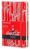 Notes Moleskine Coca Cola w linię, mały [9x14cm] czerwony (Moleskine Coca Cola Limited Edition Ruled Pocket Hard Cover)