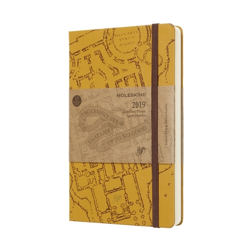 "Kalendarz Moleskine 2019 ""Harry Potter"" Dzienny L (13x21cm) twarda oprawa (Daily Planner Harry Potter Large Hard Cover)"